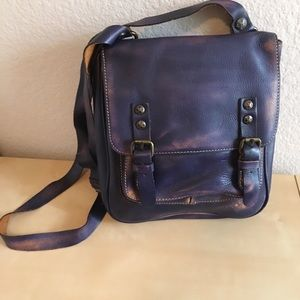 Patricia Nash Purple Leather Crossbody Bag